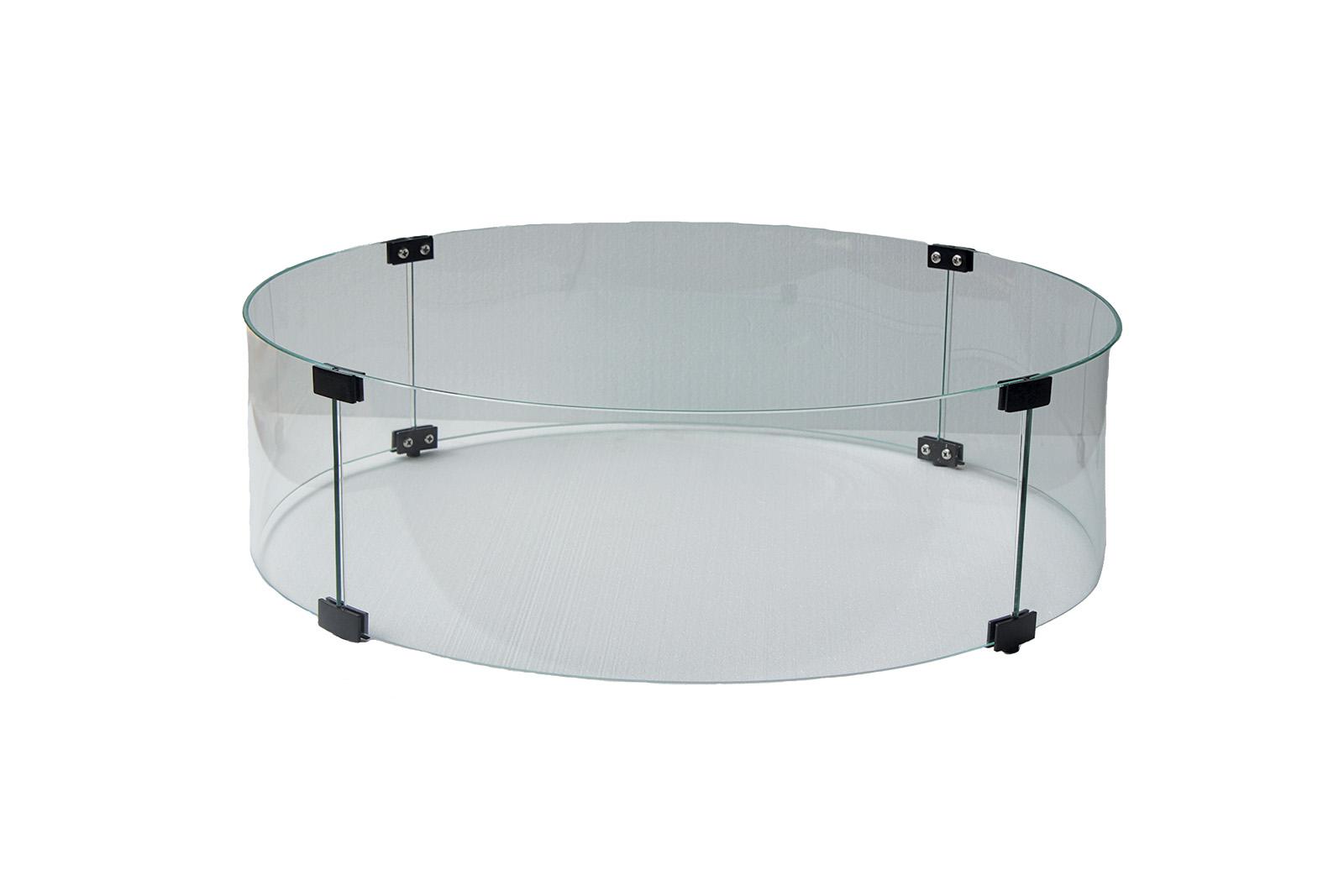 Arlington Fire Pit Round Clear Glass